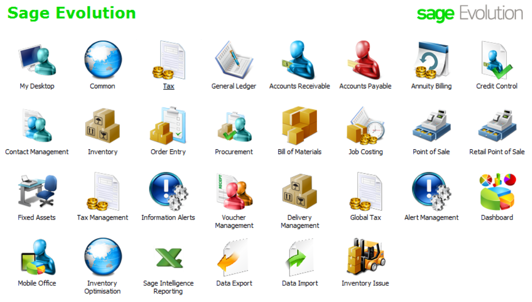 Sage Evolution Desktop
